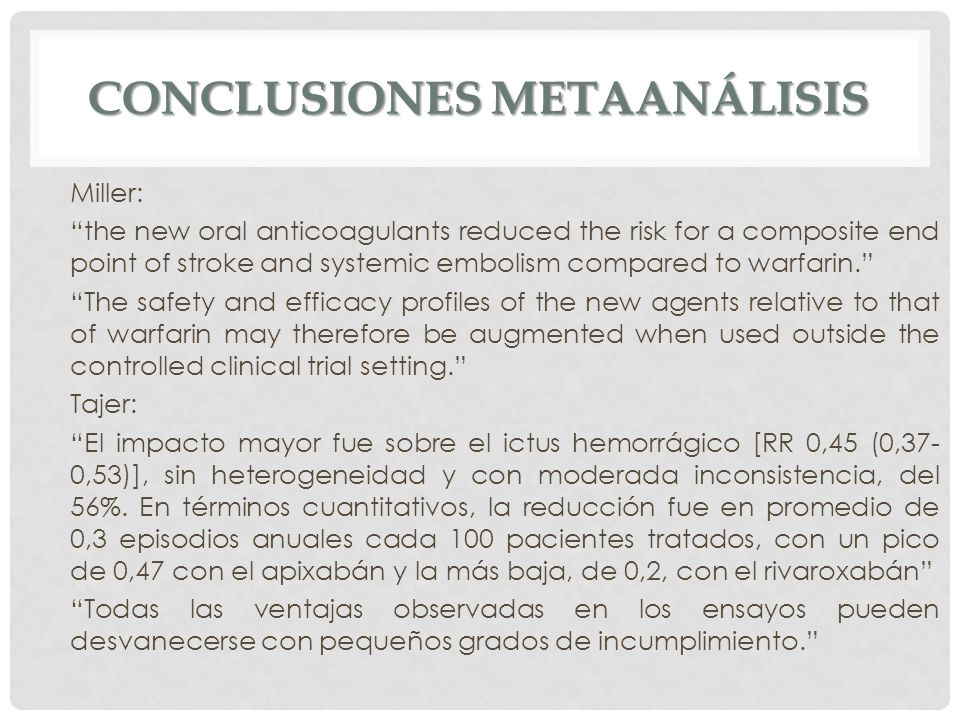 Conclusiones metaanálisis