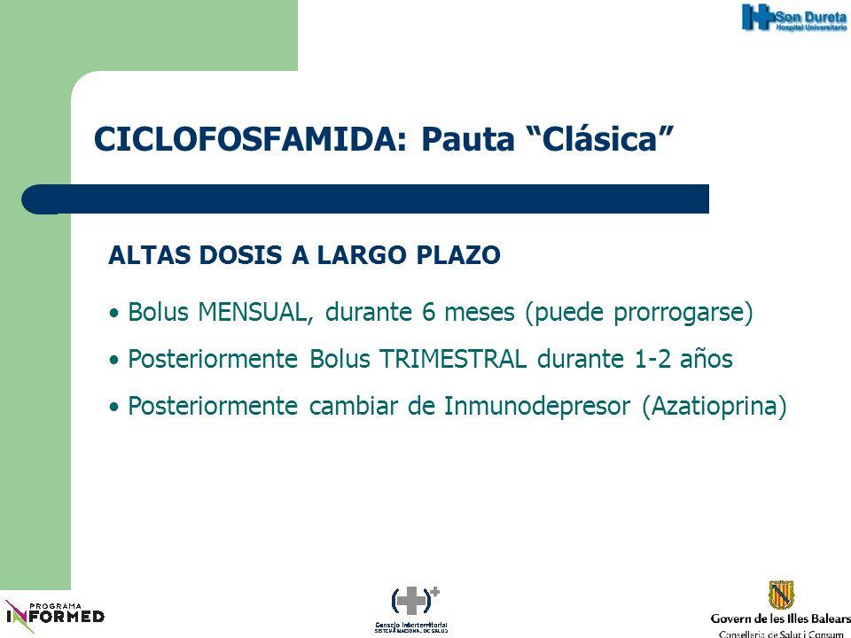 CICLOFOSFAMIDA: Pauta Clásica