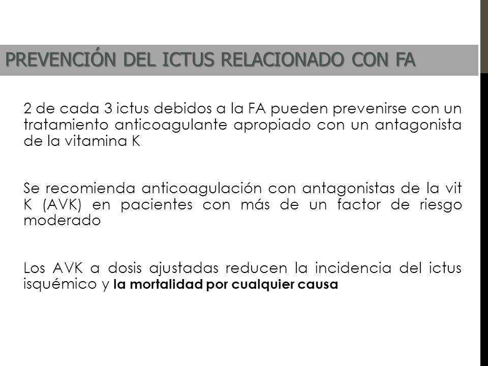 PREVENCIÓN DEL ICTUS RELACIONADO CON FA