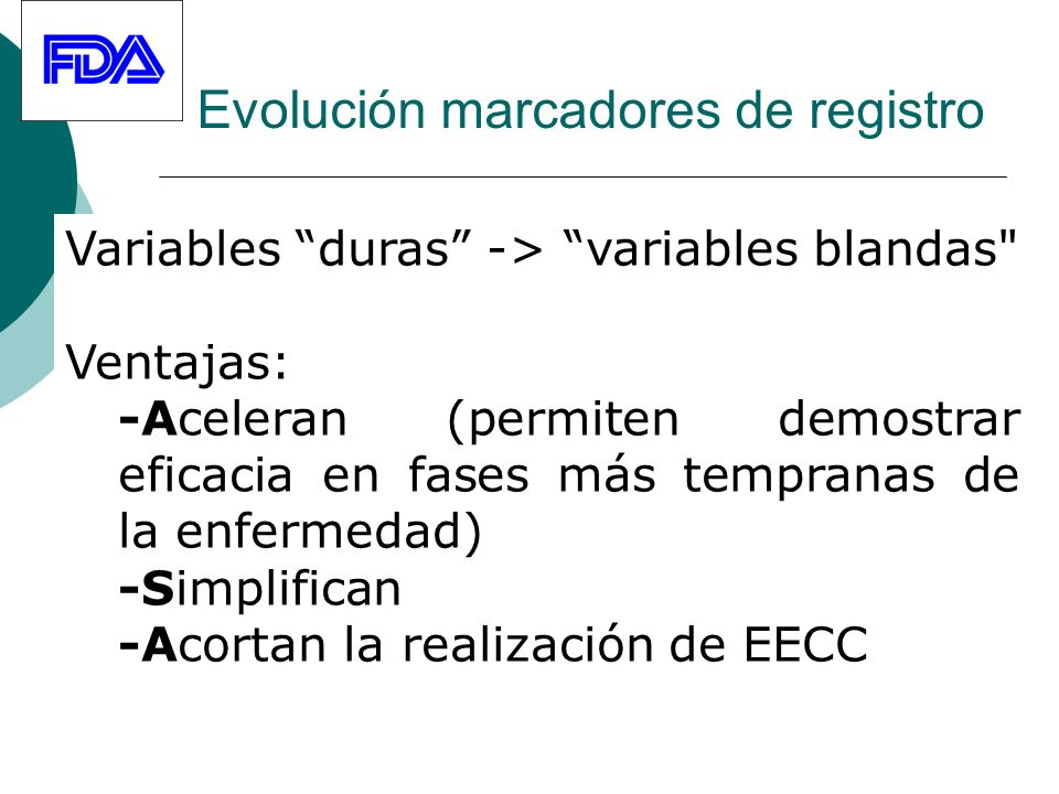 Evolución marcadores de registro