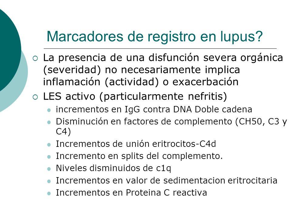 Marcadores de registro en lupus