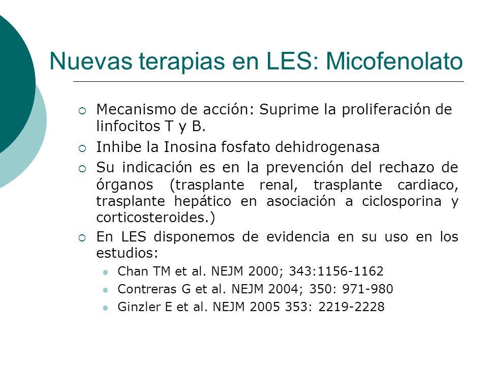 Nuevas terapias en LES: Micofenolato
