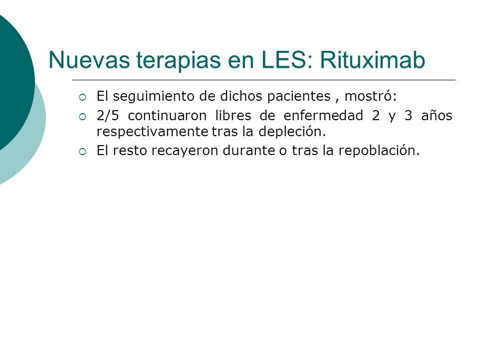 Nuevas terapias en LES: Rituximab
