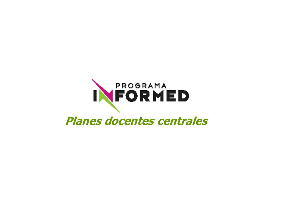 Planes docentes centrales