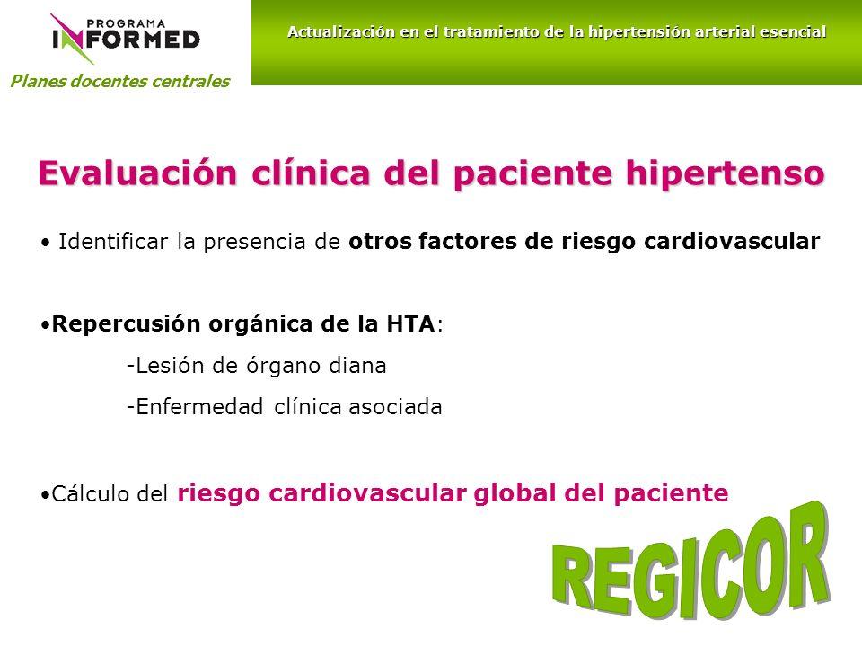 REGICOR Evaluación clínica del paciente hipertenso