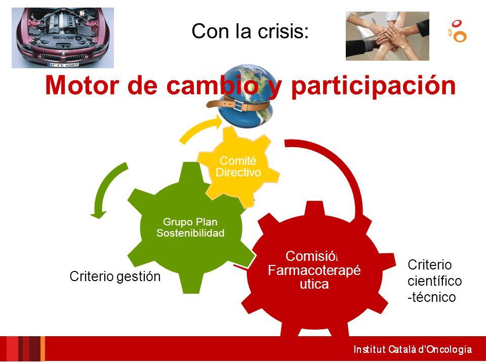 Con la crisis: Motor de cambio y participación
