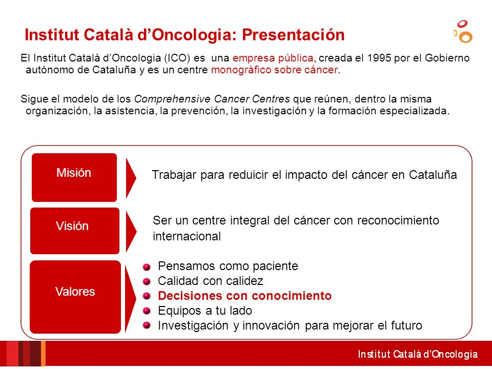 Institut Català d'Oncologia: Presentación
