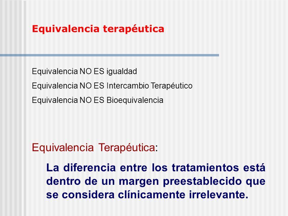 Equivalencia Terapéutica: