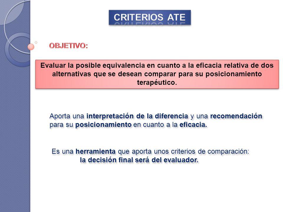 CRITERIOS ATE OBJETIVO:
