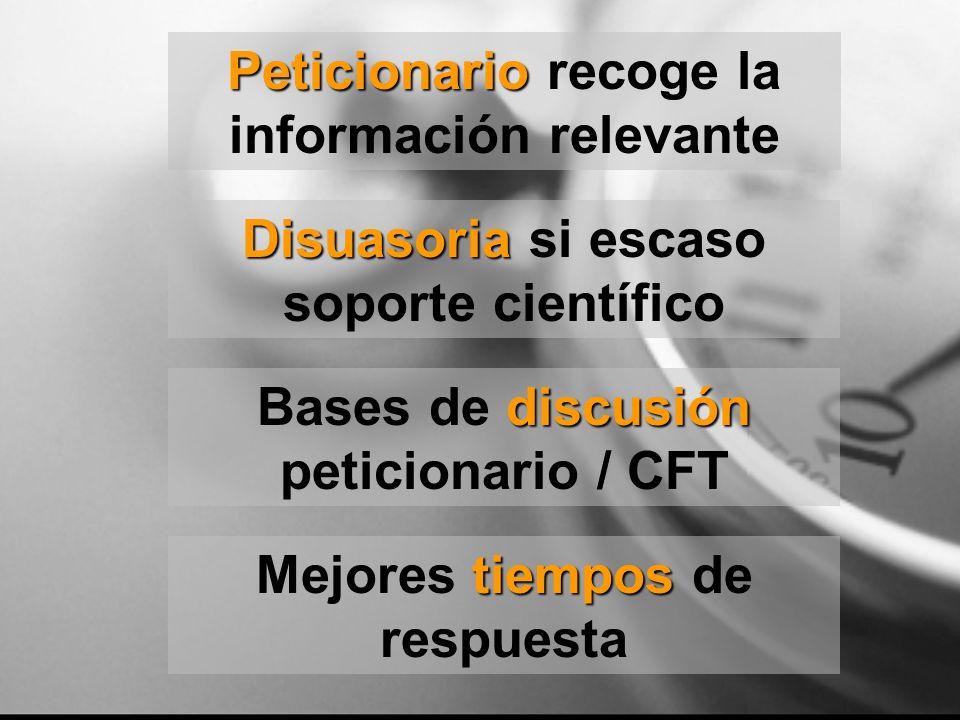 Peticionario recoge la información relevante