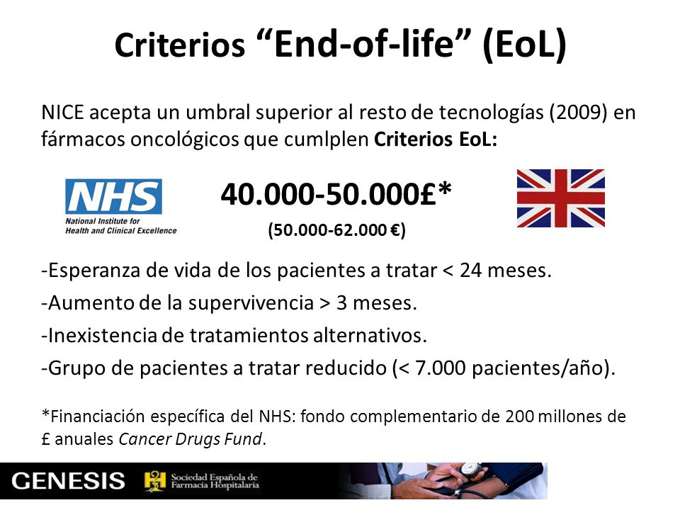 Criterios End-of-life (EoL)
