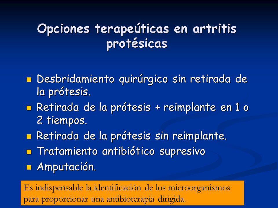 Opciones terapeúticas en artritis protésicas