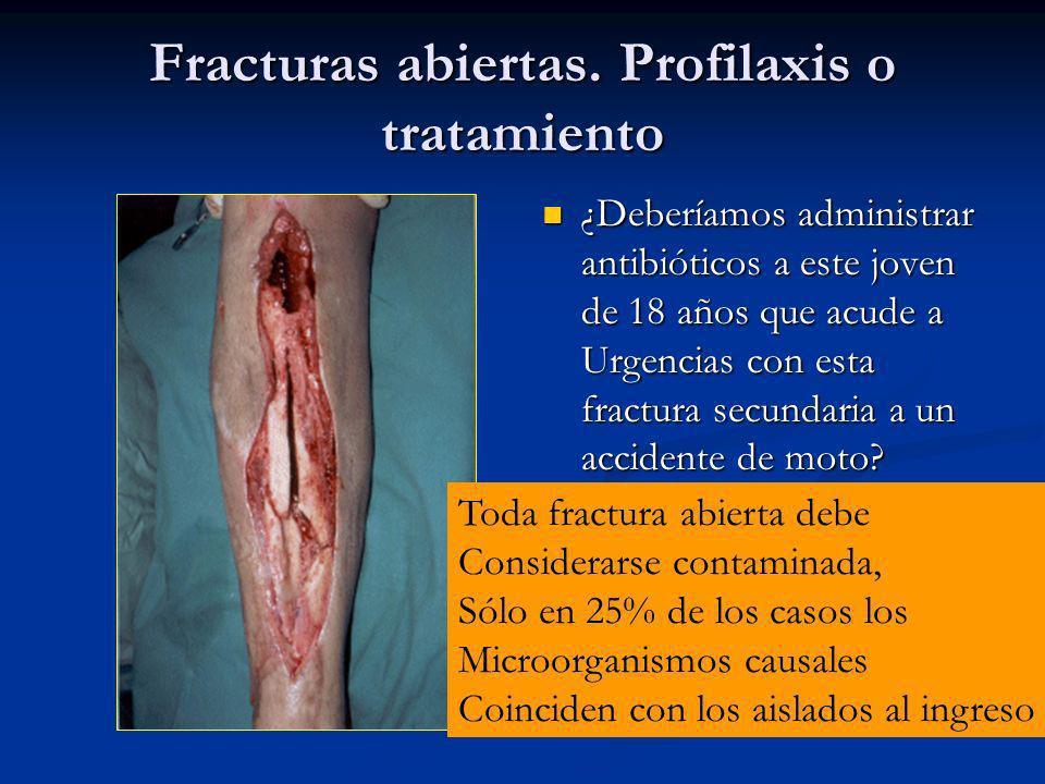 Fracturas abiertas. Profilaxis o tratamiento