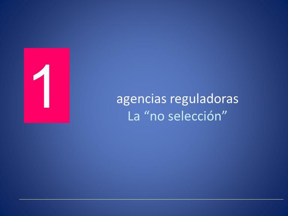 agencias reguladoras La no selección