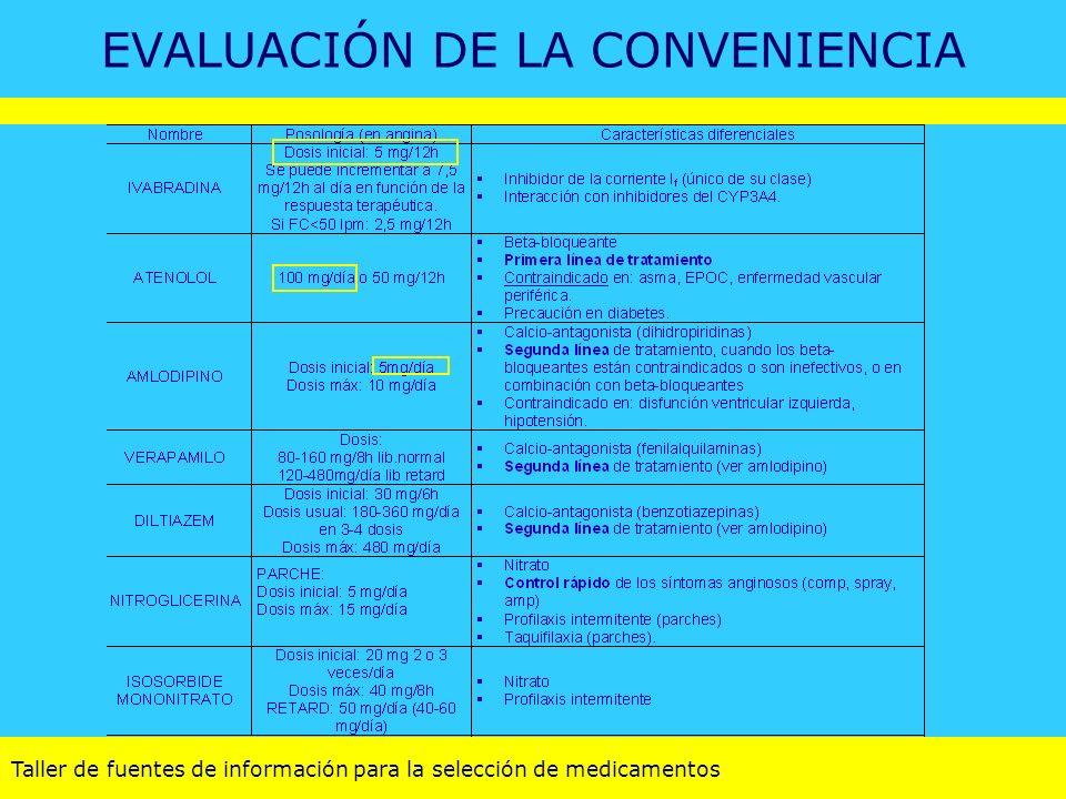 EVALUACIÓN DE LA CONVENIENCIA