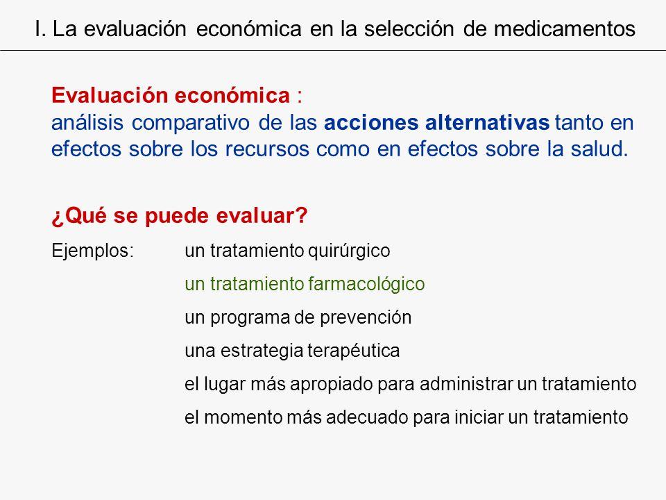 I. La evaluación económica en la selección de medicamentos