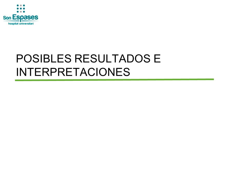 POSIBLES RESULTADOS E INTERPRETACIONES