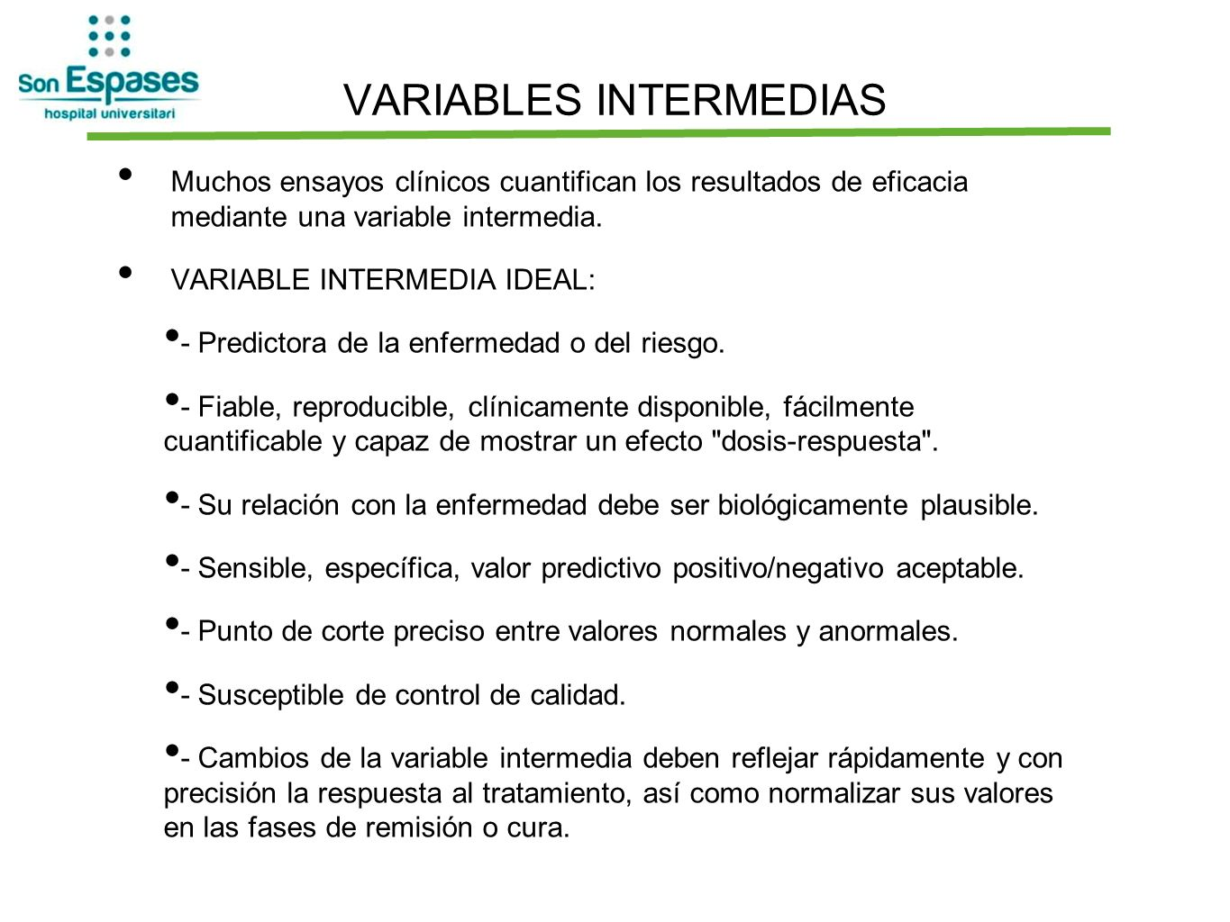 VARIABLES INTERMEDIAS