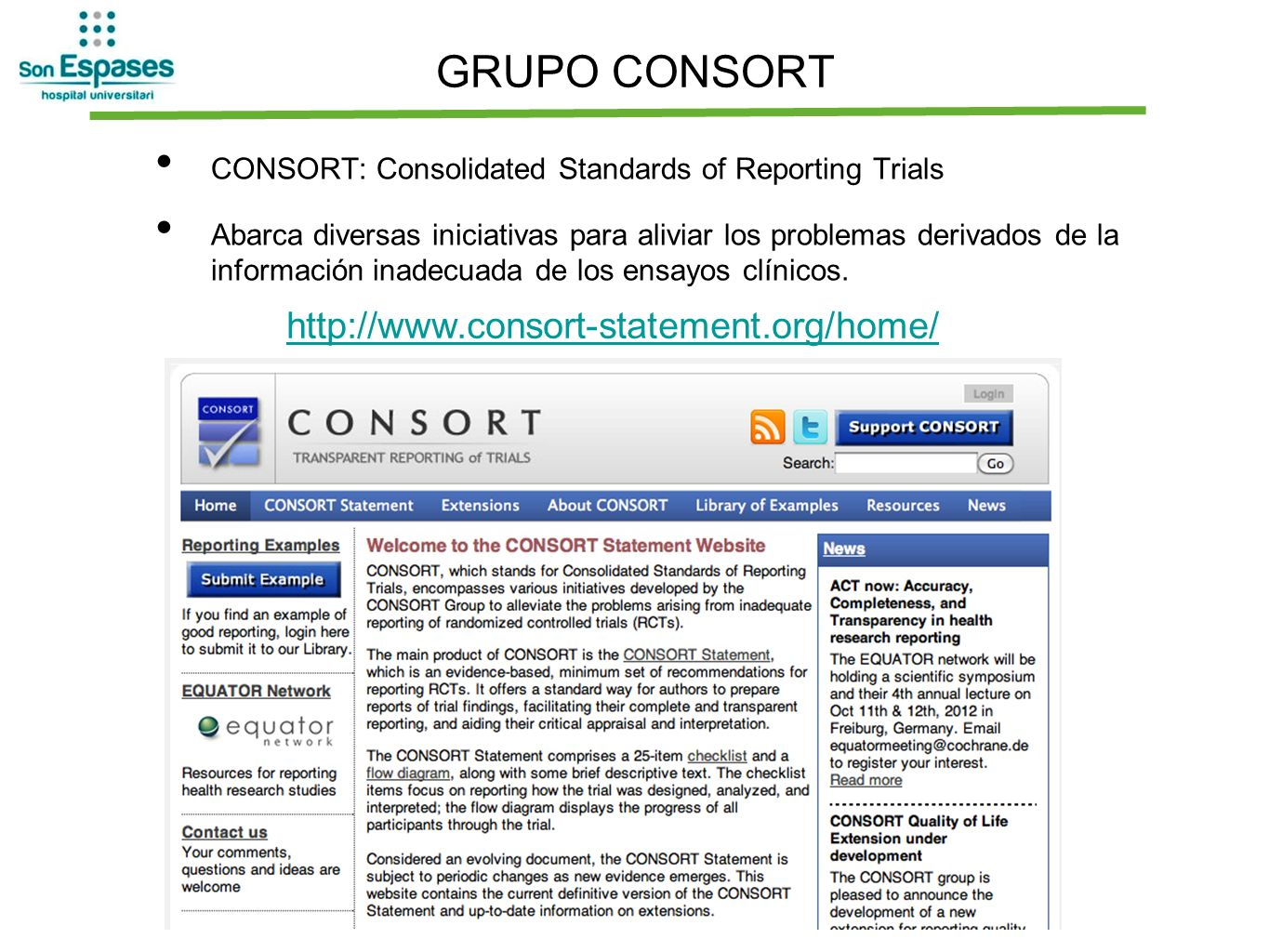 GRUPO CONSORT http://www.consort-statement.org/home/