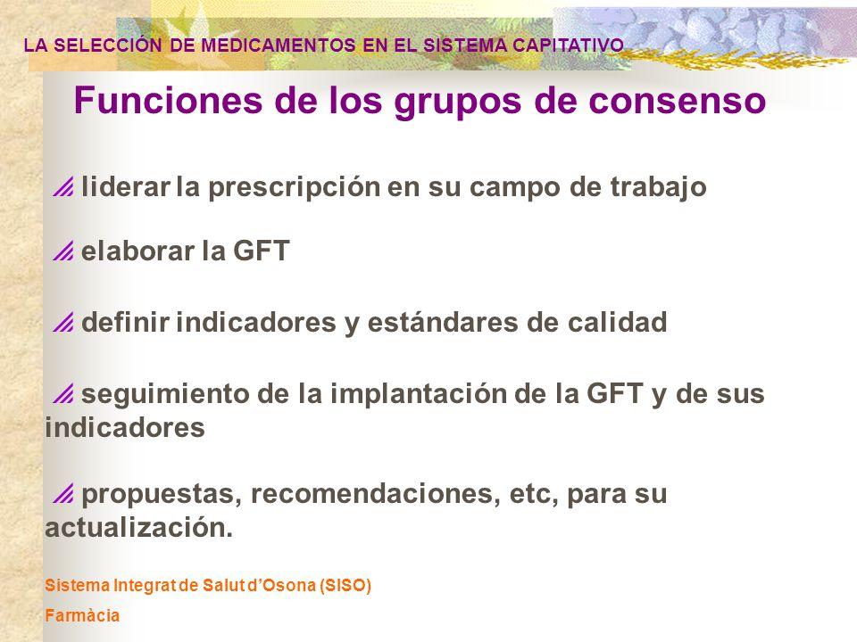 Funciones de los grupos de consenso