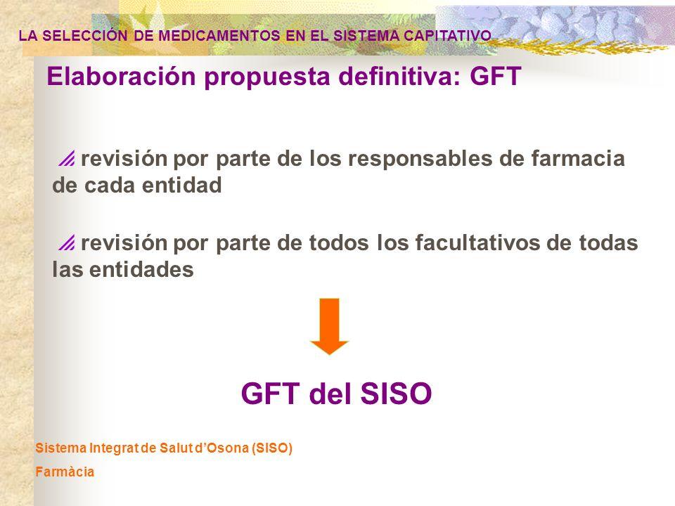 GFT del SISO Elaboración propuesta definitiva: GFT