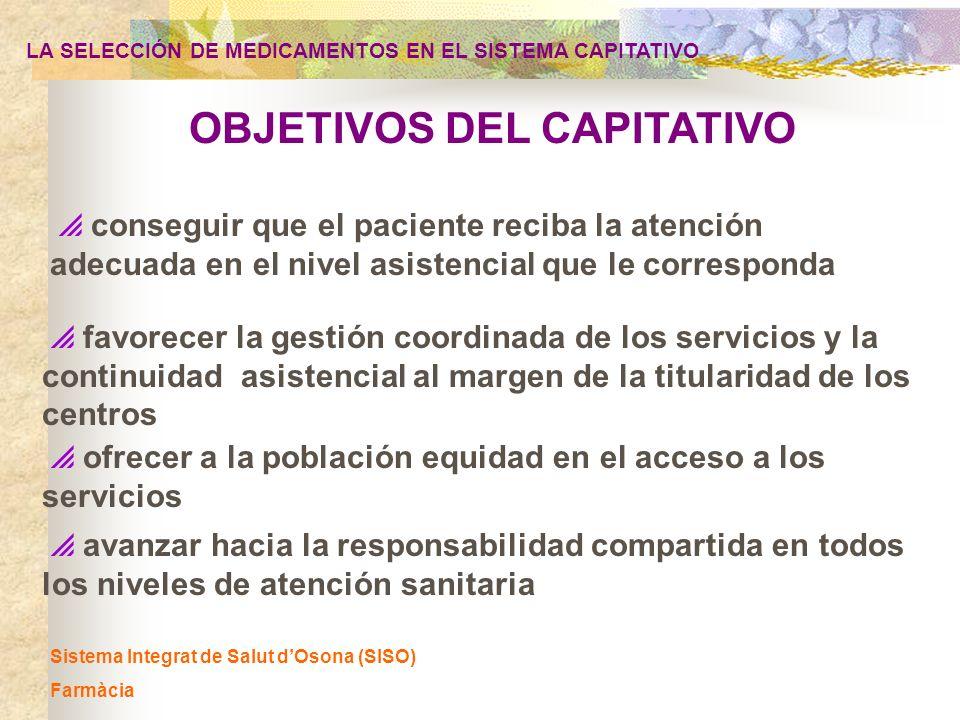 OBJETIVOS DEL CAPITATIVO