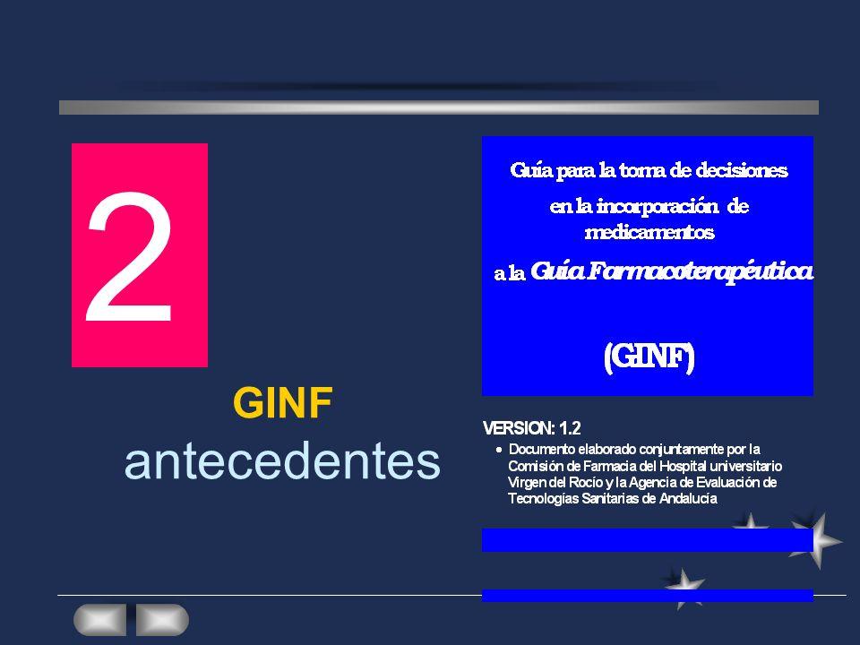 2 GINF antecedentes