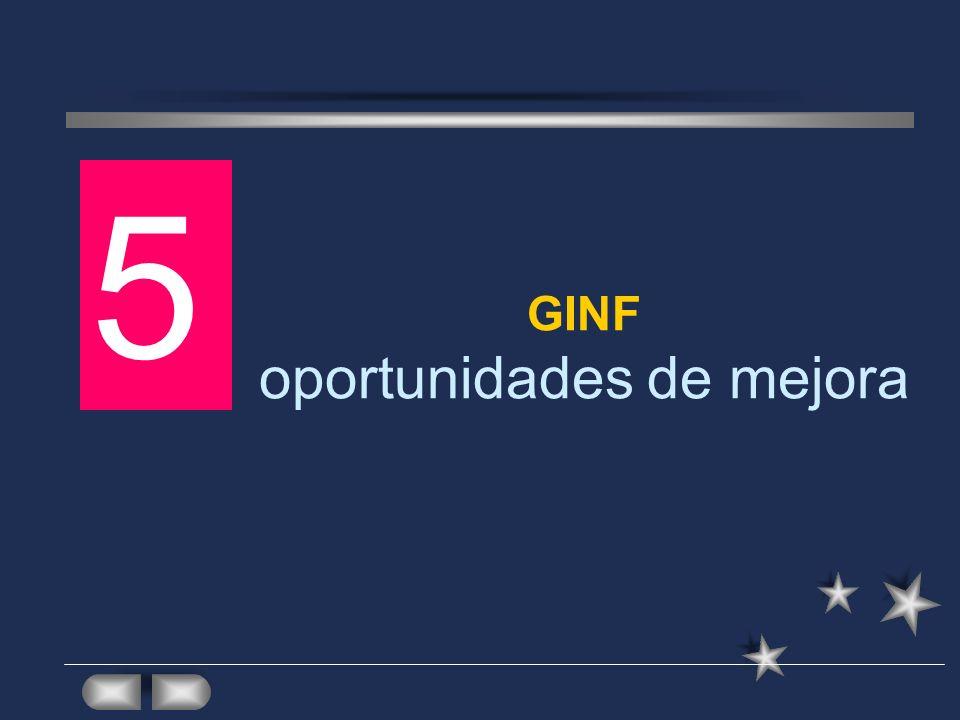 GINF oportunidades de mejora
