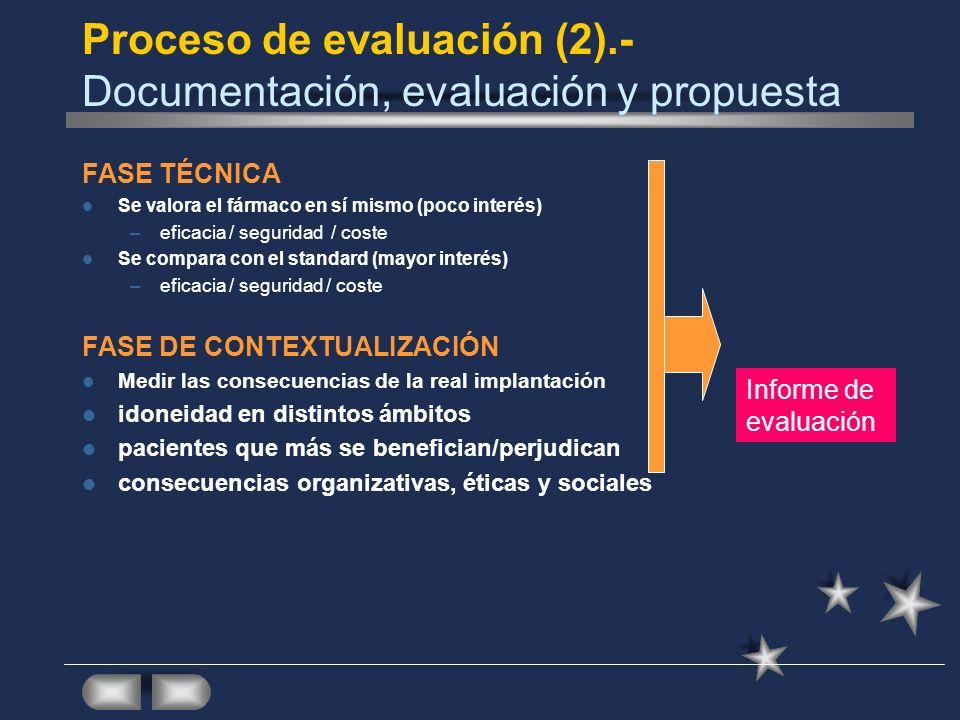 Proceso de evaluación (2).- Documentación, evaluación y propuesta