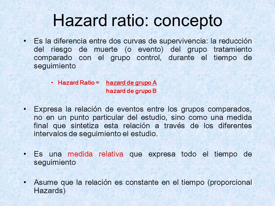 Hazard ratio: concepto
