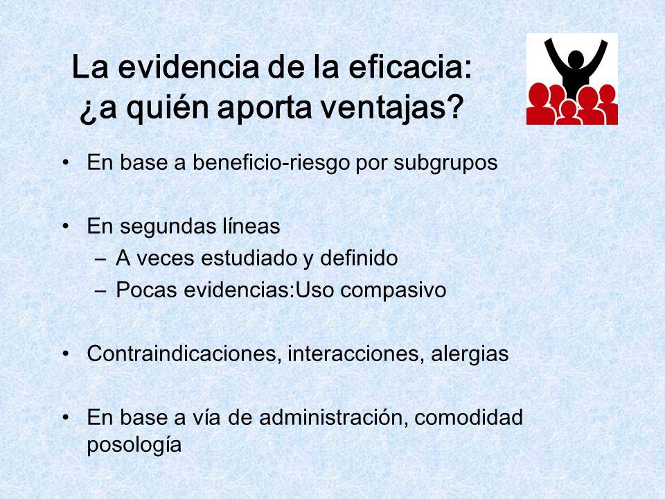 La evidencia de la eficacia: ¿a quién aporta ventajas