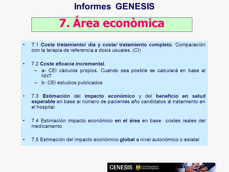 Informes GENESIS 7. Área econòmica