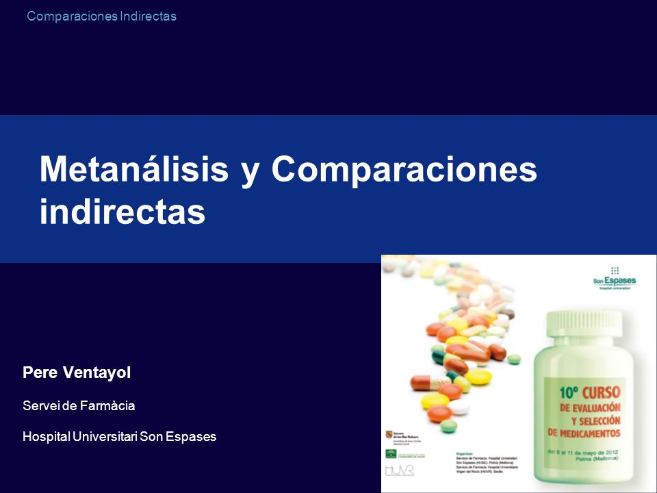 Metanálisis y Comparaciones indirectas