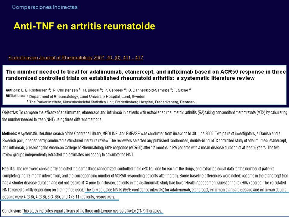 Anti-TNF en artritis reumatoide