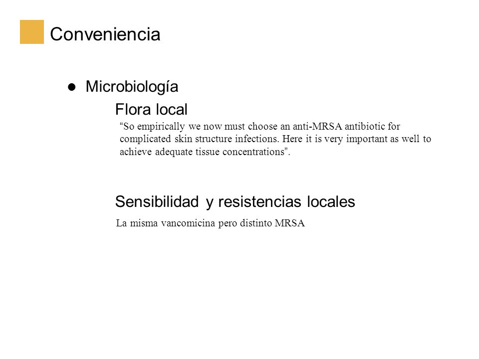 Conveniencia Microbiología Flora local