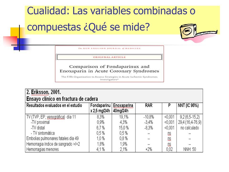 Cualidad: Las variables combinadas o compuestas ¿Qué se mide