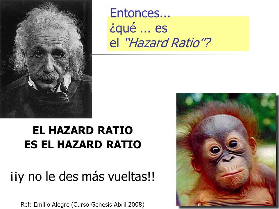 Entonces... ¿qué ... es el Hazard Ratio