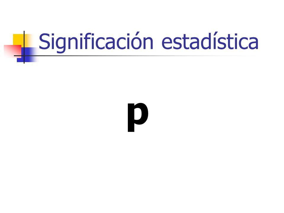 Significación estadística