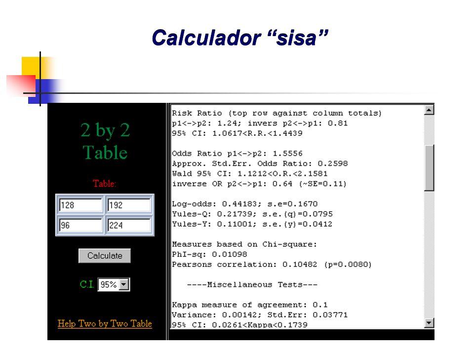 Calculador sisa