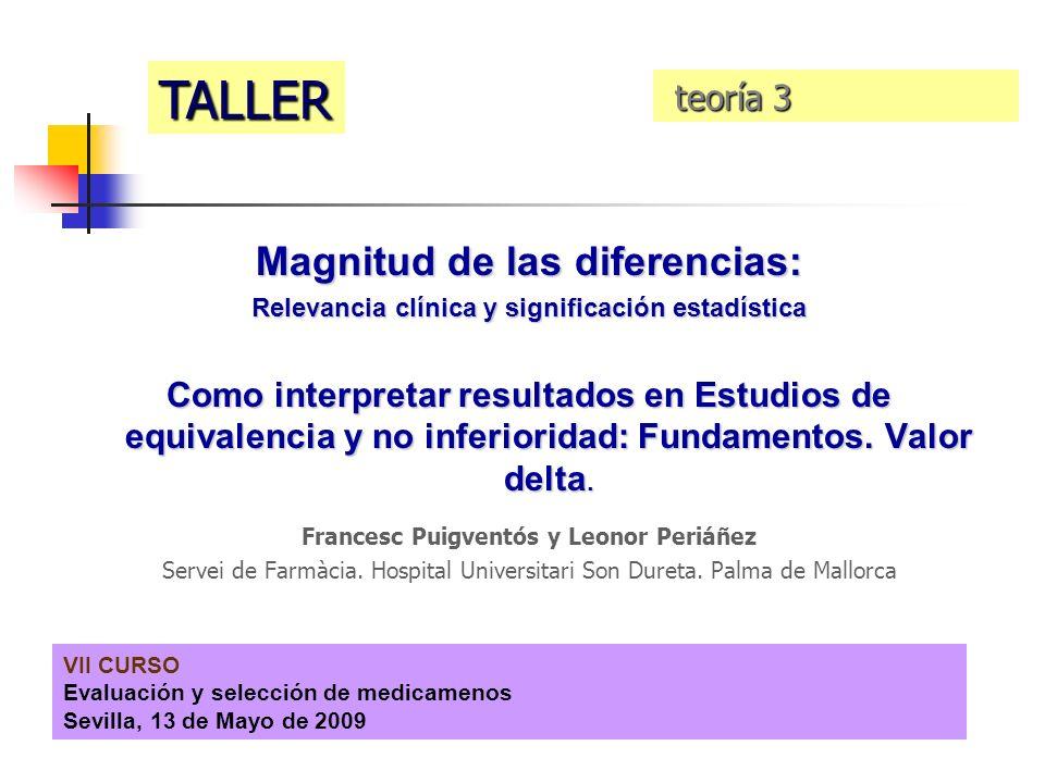 TALLER Magnitud de las diferencias: teoría 3