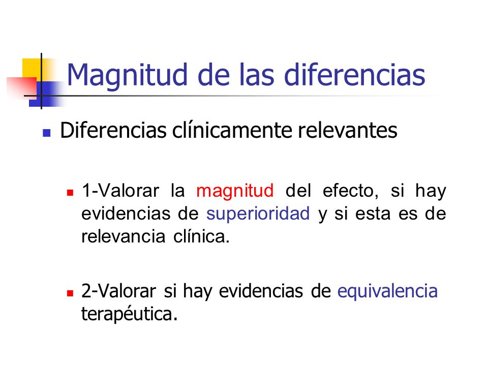 Magnitud de las diferencias
