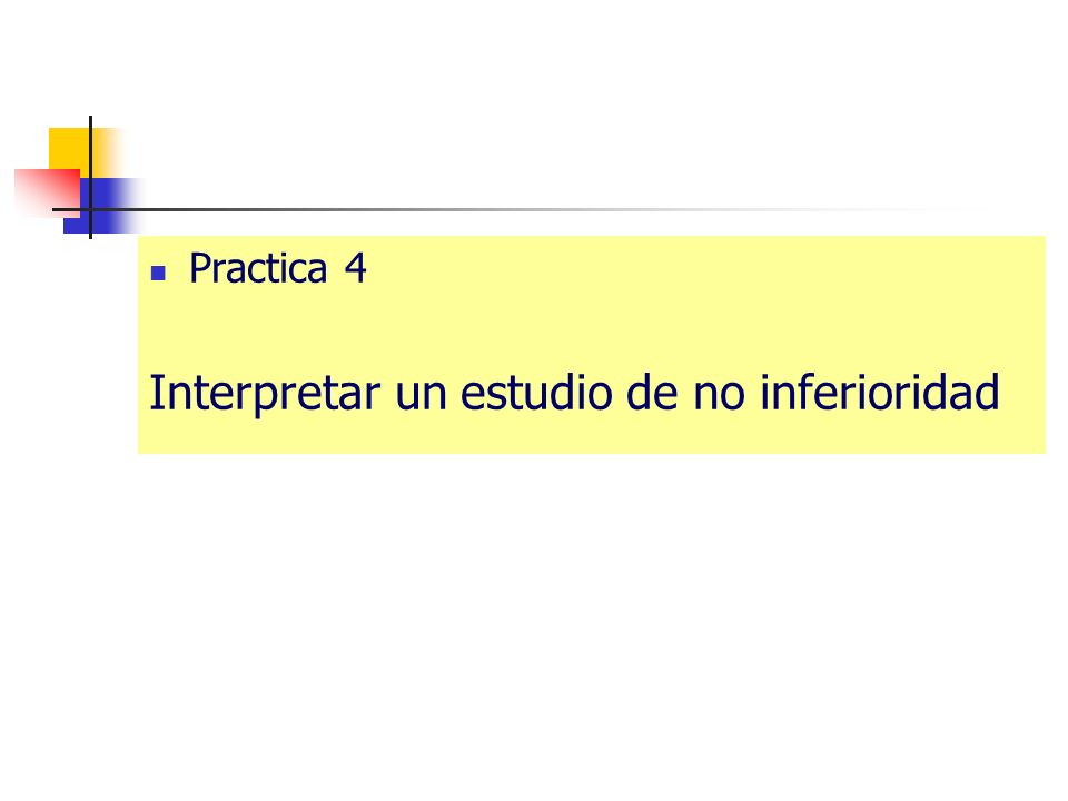 Interpretar un estudio de no inferioridad