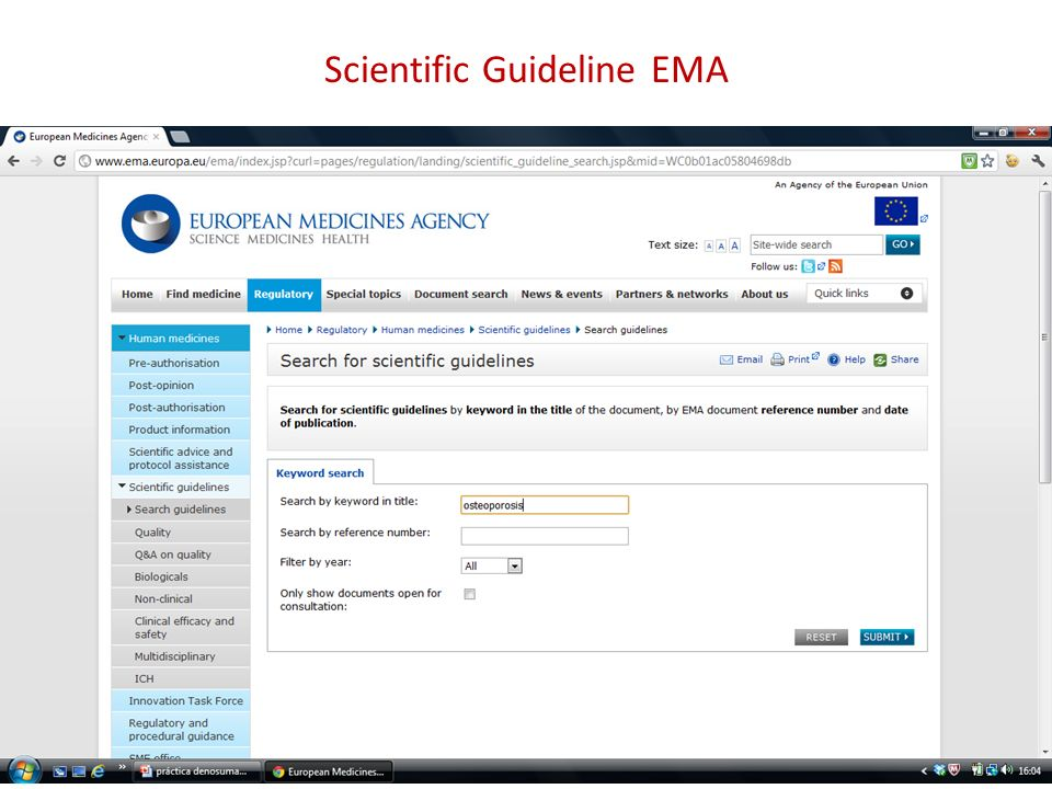 Scientific Guideline EMA