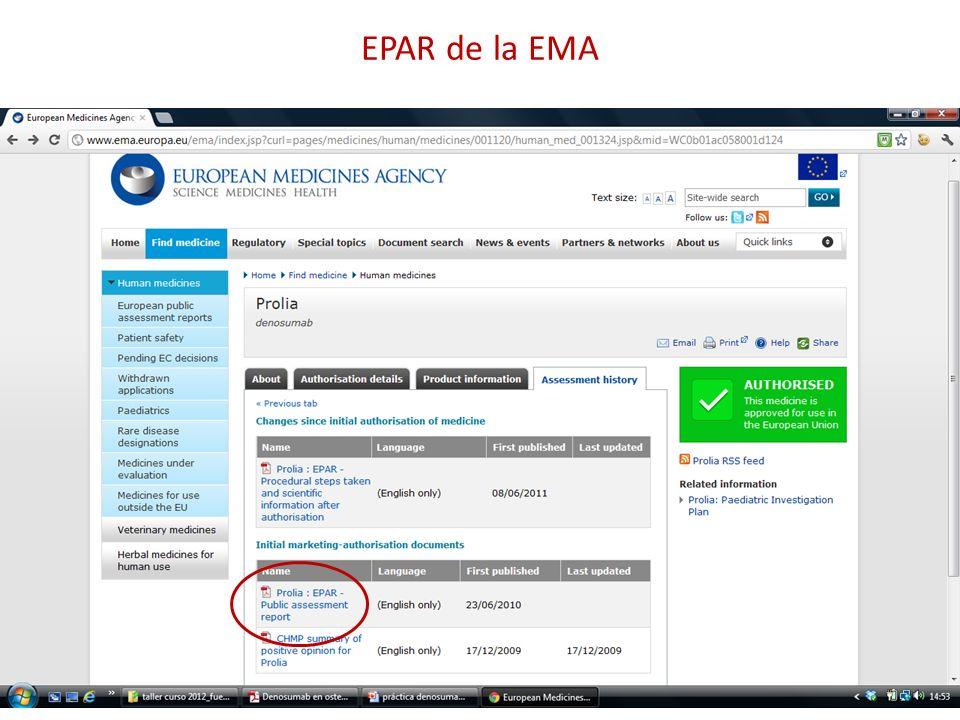 EPAR de la EMA