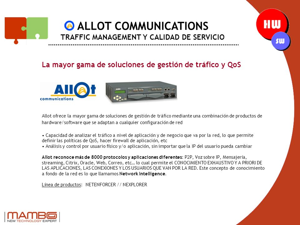 ALLOT COMMUNICATIONS TRAFFIC MANAGEMENT Y CALIDAD DE SERVICIO