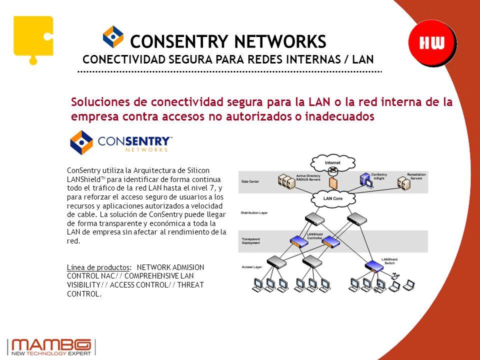 CONSENTRY NETWORKS CONECTIVIDAD SEGURA PARA REDES INTERNAS / LAN