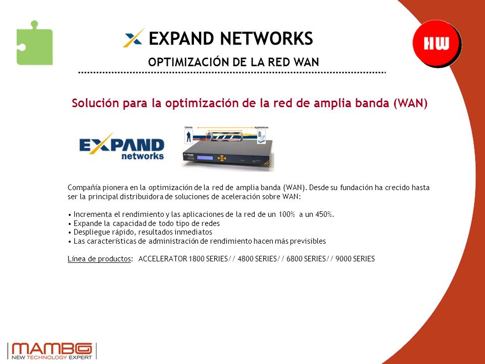 EXPAND NETWORKS OPTIMIZACIÓN DE LA RED WAN