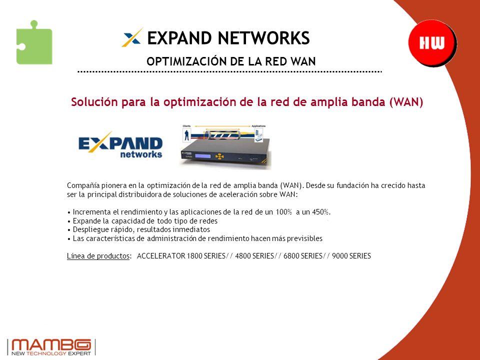 EXPAND NETWORKS OPTIMIZACIÓN DE LA RED WAN