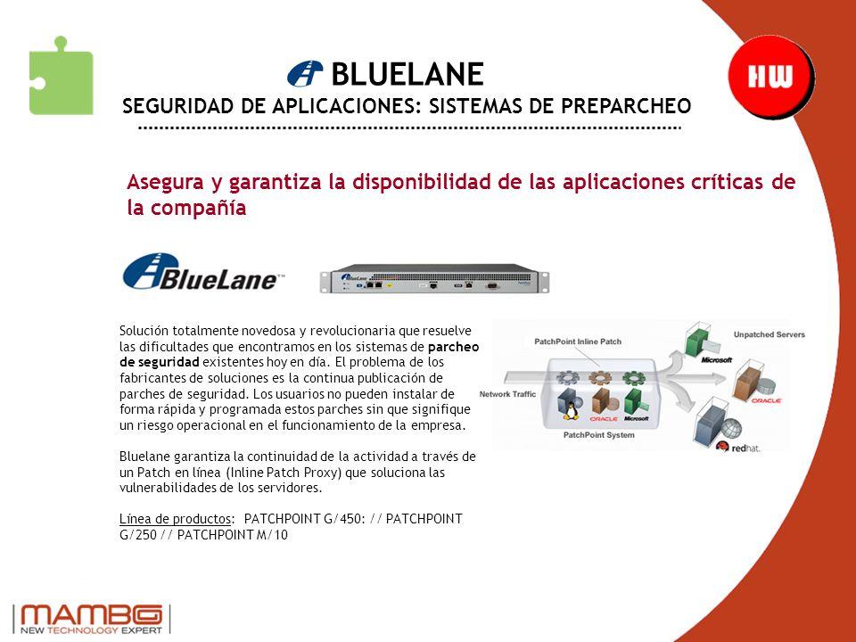BLUELANE SEGURIDAD DE APLICACIONES: SISTEMAS DE PREPARCHEO