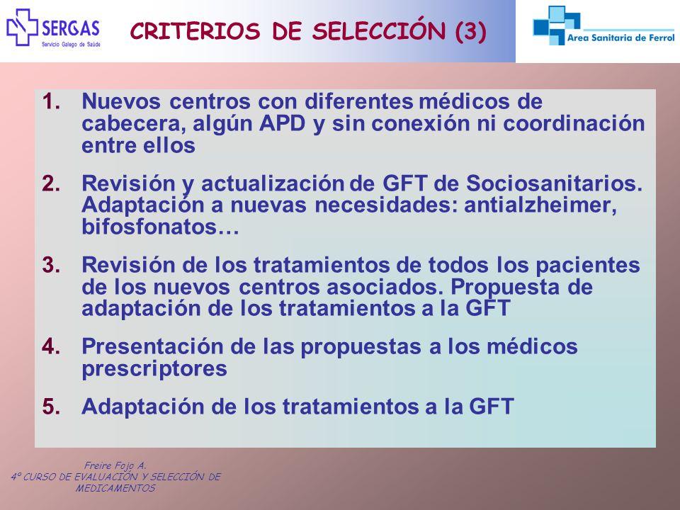 CRITERIOS DE SELECCIÓN (3)